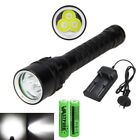 12000LM 3X XM-T6 LED Scuba Diving Flashlight Fishing Torch Lamp Underwater 100m