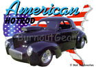 1941 Black Willys Coupe a Custom Hot Rod USA T-Shirt 41 Muscle Car Tees