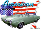 1950 Green Studebaker Convertible Custom HotRod USA T-Shirt 50,51 Muscle Car Tee