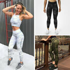 Womens Sports Camouflage Exercise Gym Ladies Yoga Running Fitness Leggings Pants