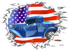 1933 Blue Plymouth Coupe Custom Hot Rod USAT T-Shirt 33 M...