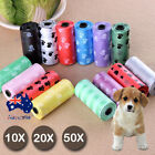 10X 20X 50X Rolls Pet Dog Puppy Cat Poo Poop Waste Disposable Clean Pick Up Bags