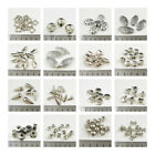 SILVER PLATED ACRYLIC BEADS *78 STYLES* JEWELLERY MAKING BEADING BRACELET CRAFTS