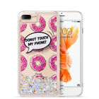 For Apple iPhone 6 4.7 Liquid Glitter Quicksand Hard Case Cover + Screen Guard