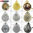 Antique Steampunk Pocket Watch Quartz Classic Necklace Pendant Chain Gift Retro image