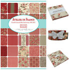 MODA Atelier De France 100 % cotton, charm pack jelly roll layer cake for sewing