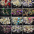3D Nail Art Rhinestones Mixed Tips Decoration Glitter Acrylic Alloy Frame Metal