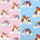 Rainbow Unicorn Pattern Childrens Wallpaper Magic Cloud Horse Kids Bedroom