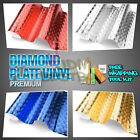 *Premium Chrome Diamond Plate Vinyl Decal Sign Sheet Film Decal Self Adhesive