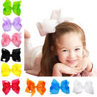 6 Inch Large Hair Bow Hair Accessories Kids Grosgrain Ribbon With Clips Headwear