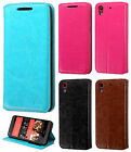 HTC Desire 555 Premium Wallet Case Pouch Flap STAND Phone Cover + Screen Guard