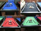 NEW 2020 MODEL  DELUXE  7 FT BLUE FELT POOL TABLE WITH ACCESSORIES $425.0 AUD on eBay