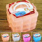 Clear Plastic Jewelry Ornament Storage Box Hard Container Organizer Case Tool