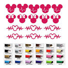 Mickey Heartbeat Minnie Mouse Ear decals stickers for home window door decor car
