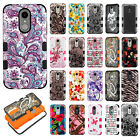 For LG Tribute Dynasty IMPACT TUFF HYBRID Case Skin Phone Cover + Screen Guard