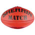 SHERRIN MATCH LEATHER FOOTBALL - RED OR YELLOW - MULTIPLE SIZES - AFL FOOTY SQSP