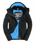 New Mens Superdry Pop Zip Hooded Arctic SDWindcheater Jacket Black