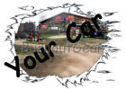 CUSTOM MADE T-Shirt with YOUR CAR & Garage Background Set Up Muscle Car Tees image