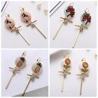 Fashion Accessories Vintage Wind Flower Embroidery Fabric Dangle Earrings