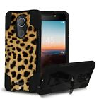 For T-Mobile REVVL PLUS Rugged Dual Layered Case w/Stand Cover