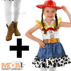 Jessie + Tights Toy Story Girls Fancy Dress Kids Cowgirl Disney Western Costume