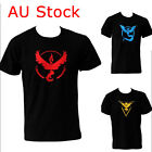 Pokemon Go Team Valor Mystic Instinct Mens Short Sleeve Inspired T-shirt