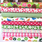 10 piece bright funky florals polycotton fabric bundles fat quarter /half metre
