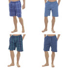 Mens Checked Striped  Woven Shorts Pj Check Nightwear Lounge