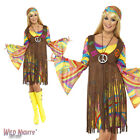 FANCY DRESS COSTUME # LADIES 1960s 70s GROOVY HIPPIE LADY DRESS OUTFIT SIZE 8-22