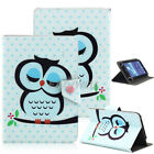 """US For 7"""" 10"""" 10.1"""" Android Tablet Cute Print Universal Leather Case Cover Gift"""
