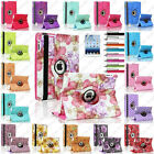 Leopard Rose Flower Map 360 Rotate Leather Case Smart Cover For iPad Mini 1 2 3