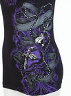 ARCHAIC by AFFLICTION Womens T-Shirt HAPPY SPIRIT Tattoo BLACK Biker Sinful $40