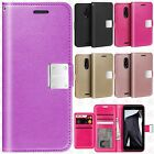 For T-Mobile Revvl Plus Premium Flip Out Pocket Wallet Case Pouch Cover