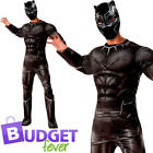 Black Panther Adult Fancy Dress Avengers Infinity War Superhero Mens Costume New
