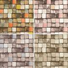 AS Creation Wood Block Pattern Wallpaper Faux Effect Square Embossed Textured