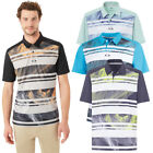 Oakley Golf Mens 2018 Aero Stripe Mashie Moisture Wicking Regular Fit Polo Shirt