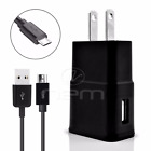 U.S. Cellular Samsung Phones USB 3.1 Amp Wall Charger+Fast Charging Cable BLCK