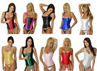 Steel Boned ZIPPER FRONT Fashion ZIPPERED CORSET Shapewear + Garters, G-string