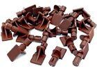 7mm PUSH IN SHELF SUPPORT PINS brown Studs Peg Bookcase Cabinet Shelves (451)