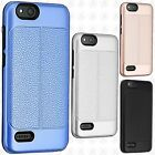 For ZTE Blade Vantage Leather Texture Hybrid Rubber Silicone Case Phone Cover