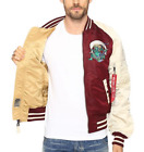 Alpha Industries Men's Maroon MA-1 Souvenir Shinto Flight Reversible Jacket