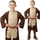 Boys Hooded Brown Jedi Robe Star Wars Child Luke Skywalker Fancy Dress Outfit £12.98 GBP on eBay