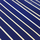 BUTCHERS STRIPE blue & white polycotton drill fabric 150 cm  208 gsm
