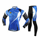 Men Sport Long Sleeve Bike Clothing Suit Cycling Thermal Jersey Tights Pants Set