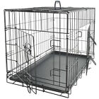 Pet Dog Cat Crate Kennel Cage & Bed Plastic Pad Pan Soft Cozy House Kit Playpen