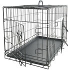 Pet Dog Cat Crate Kennel Cage & Bed Plastic Pad Pan Soft Cozy House Kit Playpen <br/> Folding Crate W/ Divider - New Model #1 Best Seller