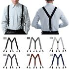 Внешний вид - Mens Button Hole Suspenders Y-Back Adjustable Heavy Duty Design Suspender