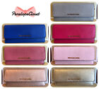 NWT MICHAEL KORS JET SET TRAVEL SAFFIANO LEATHER FLAT WALLET IN VARIOUS COLORS