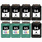 8-PACK Remanufactured Black / Color Ink Cartridge replacements for HP 94 / HP 95