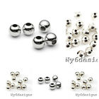 Внешний вид - Real.925 Sterling Silver Round Seamed Spacer Beads 2/2.5/3/ 4/ 5/ 6/ 7/ 8mm USA